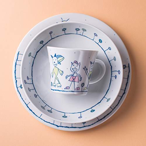 Kahla Kindergeschirr 3-teiliges Set Porzellan mit Motiv (Ausflug)