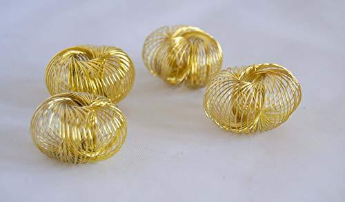 Pack de 10 gommes bracelet ressort dorées. envoi gratuit 72h