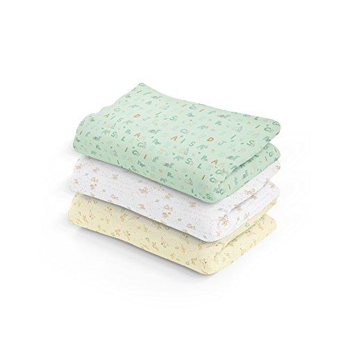 Cueiro Estampado, Papi Textil, Verde, 80cmx60cm