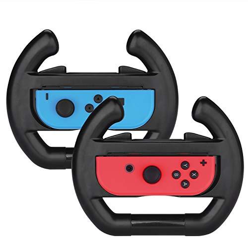 2 stuks zwarte stuurwielen voor Nintendo Switch Joy-Con, Wheel Grip Controller Case voor Nintendo Switch Joy-Con