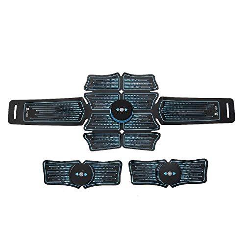 QCY AT Unisex Professionelle Stimulator Muskel-Toner-USB Muskeltraining EMS Körperbauchmuskeltrainer Anfänger