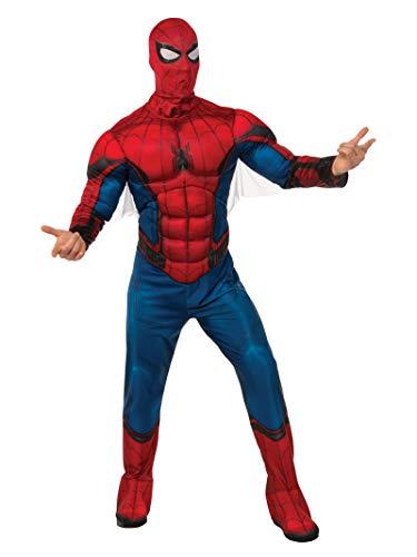 Marvel - Disfraz de Spiderman para hombre, Talla M/L adulto (Rubie's 820685-STD)