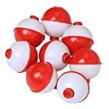 Fishing Bobbers Set Snap Hard ABS on Red/White Fishing Floats Bobbers Push Button Round Buoy Floats Fishing Tackle Accessories Size: 0.5/0.75/1/1.25/1.5/2 Inch (Small Total 0.5 inch Length)