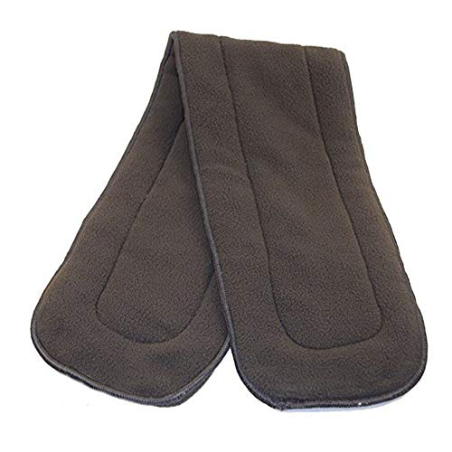 Adult Cloth Diaper Insert Pads – Oversize (6x24), Charcoal Bamboo & Microfleece Booster Pad is Washable, Reusable, Absorbent, 4-Layer Inserts for use with Diapers for Incontinence, Babyland (3)