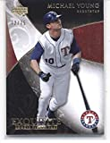 2007 Exquisite Collection Rookie Signatures Gold #59 Michael Young Rangers (Upper Deck) MLB Baseball Card /75 NM-MT. rookie card picture
