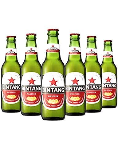 6 x Bintang Lager Bier aus Indonesien 0,33 l Flasche inkl. Pfand