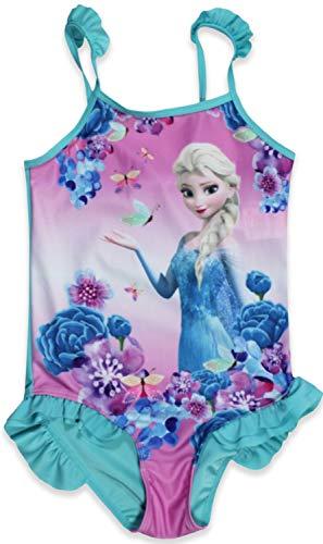Disney Die Eiskönigin Mädchen Badeanzug Gr. 8-9 Jahre, blau