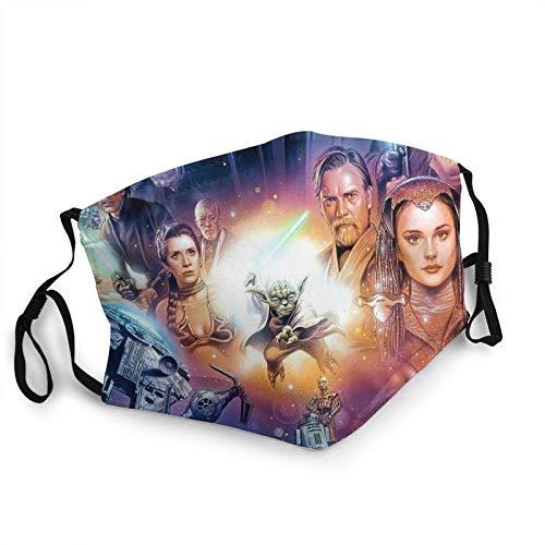 ZSMJ Star-Wars - Pañuelo para la cara de todas las bocas, reutilizable, sin costuras, con bandanas reemplazables, a prueba de viento, para hombres y mujeres