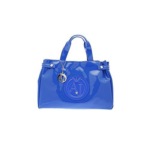 Armani Jeans Large Patent Femme Handbag Bleu