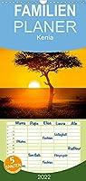 Kenia - Familienplaner hoch (Wandkalender 2022 , 21 cm x 45 cm, hoch): Tiere und Landschaften in Kenia (Monatskalender, 14 Seiten )