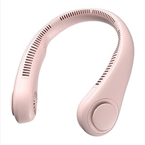 LVYE1 MRMF Ventilador De Cuello Colgante, USB Portátil De Carga Portátil Estudiante Perezoso Cuello Colgante Pequeño Mini Red Rojo Pequeño Ventilador Eléctrico, 4000 Mah Ventilador Recargable,Rosado