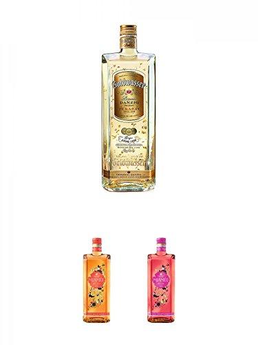 Danziger Goldwasser Likör 0,7 Liter + Miamee Orange Goldwasser Likör 0,7 Liter + Miamee Rouge Goldwasser Likör 0,7 Liter