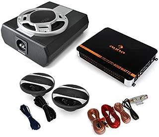 Auna Black Line 400 Equipo de Sonido HiFi para Coche Amplificador 4 Canales 2800W, 4X Altavoz 6.5 800W, Set Cables