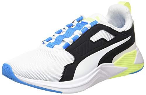 PUMA Disperse XT Mens, Zapatillas de Gimnasio Hombre, Blanco White/Nrgy Blue/Fizzy Yellow, 42 EU