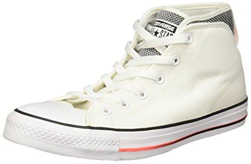 Converse Chuck Taylor All Star Syde Street Summer Mid White/Black/Hyper Orange Classic Shoes Size 7.5 Men/9.5 Women
