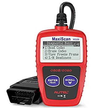 Autel MS309 OBD2 Scanner Check Engine Fault Code Reader Read Codes Clear Codes View Freeze Frame Data I/M Readiness Smog Check CAN Diagnostic Scan Tool