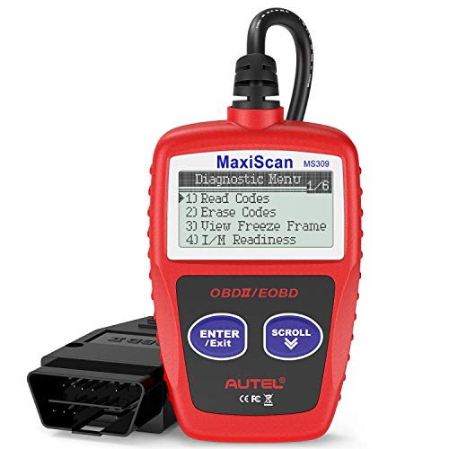 Autel MS309 Universal OBD2 Scanner Check Engine Fault Code Reader, Read Codes Clear Codes, View Freeze Frame Data, I/M Readiness Smog Check CAN Diagnostic Scan Tool