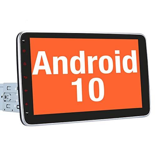 Vanku 10 Zoll Android 10 Autoradio Moniceiver mit Navi Unterstützt Bluetooth DAB + Android Auto WiFi 4G USB 1 Din Universal
