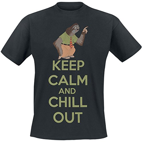 Zoomania Keep Calm And Chill Out T-Shirt schwarz S
