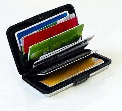 MAXBOX – Kreditkartenetui Metall weiß, RFID Schutz Kartenetui, Kreditkarten Box Alu, EC Karten Etui, Kreditkarten Etui für RFID blocking