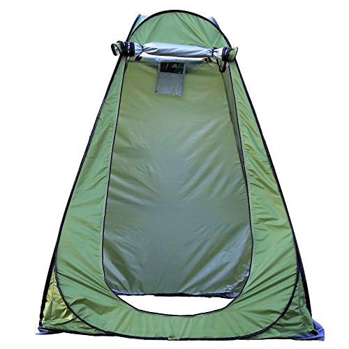 Pop Up Shower Tent Portable Outdoor Privacy Tent Camp Toilet Changing Room Easy Set Up, Foldable with Carry Bag/Lightweight and Sturdy (Green)