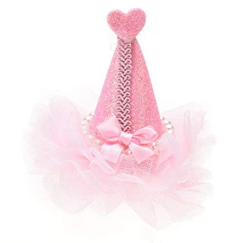 TOPINCN Pet High Hat Headwear Blume Schöne Haustiere Haarspangen Haarnadeln Katzen Kleine Hunde Teddy Haarnadel Haarschmuck Hohe...
