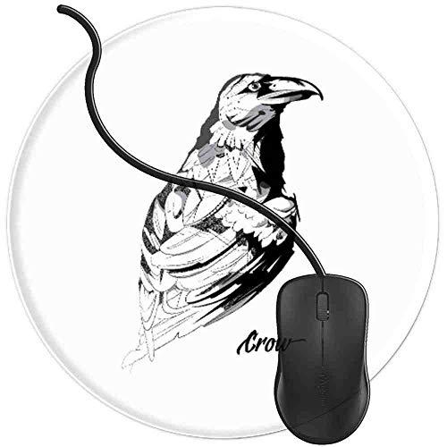 Gaming Mauspad Runde Krähen Machen Mich Glücklich Vogel Rabe Hoes, Oberfläche verbessert Geschwindigkeit und Präzision rutschfest Mouse Pad Img1109