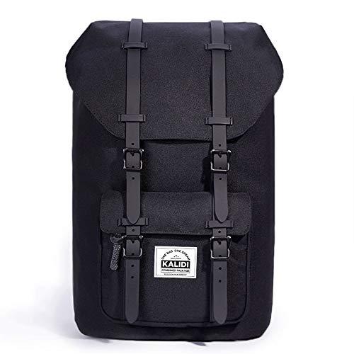 KALIDI 15 Pollici Nylon Zaino per PC Portatili Scuola Borse Casual retrò Viaggi Trekking Backpack