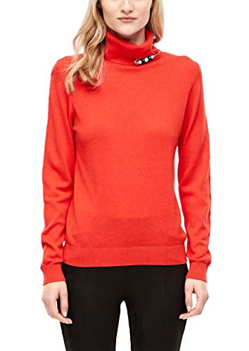 s.Oliver Damen Rollkragenpullover in Unicolor summer red 40