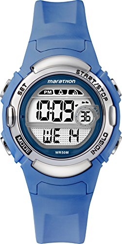 Timex Boys' Year-Round Quartz Watch with Resin Strap, Blue, 14 (Model: TW5M14400)
