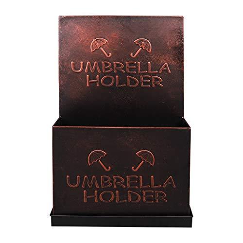 Porte-parapluies Support De Rangement pour Parapluie Parapluie Multifonctions en Fer Forgé pour La Maison pour Hôtel Créatif Commercial Brun Porte-parap