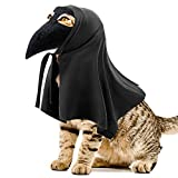 HYLYUN Kitten Halloween Costumes - Halloween Beak Doctor Mask with Matching Cloak Pet Halloween Costume for Cats and Small Dogs