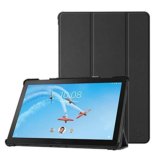 Fintie Hülle Kompatibel für Lenovo Tab P10 - Superdünne Superleicht Flip Hülle mit Auto Sleep/Wake Funktion für Lenovo Smart Tab P10 10,1 Zoll Tablet, Schwarz