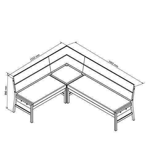Amazon Marke -Alkove - Hayes - Moderne Eckbank mit gepolsterter Sitzfläche, Wildeiche - 4