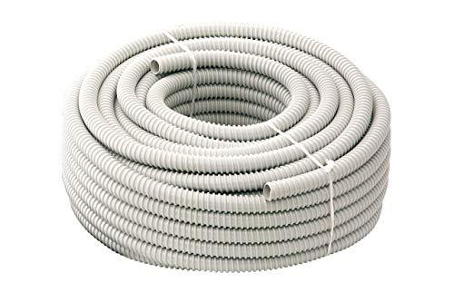 Tubifor - Tubo en espiral flexible - Tubo aislante, ondulado - Material PVC (cloruro de polivinilo) - Ideal para instalaciones eléctricas - Rollo de 30 metros TFG