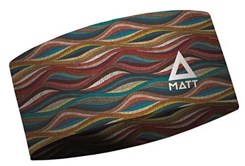 MATT - Coolmax Headband - Unisex Stirnband für das ganze Jahr, Farbe MA:Sanefa
