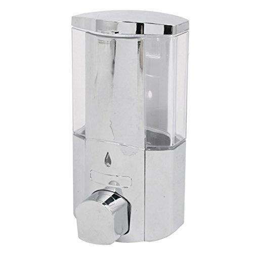 Sourcingmap– ABS Cromado 300ml Pared baño dispensador de jabón de Plata Tono