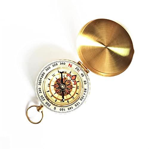 LJLCD Brújula Compass Camping Senderismo Brass Gold Brújula Reloj de Bolsillo Retro Compass Compass Navegación al Aire Libre Peso Ligero, tamaño pequeño, fácil de Llevar. (Color : 1pcs)