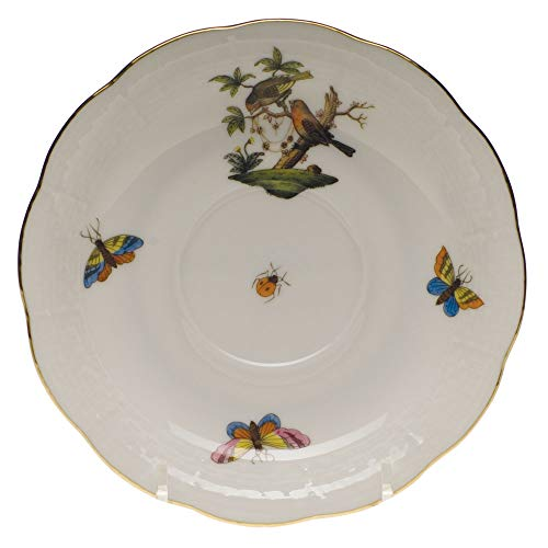 Herend Rothschild Bird Porcelain Tea Saucer Motif #10