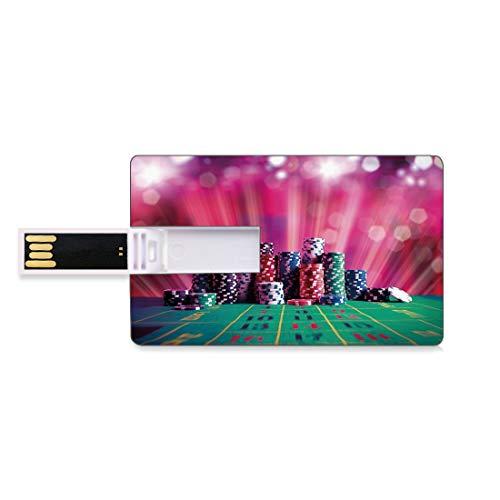 32GB Unidades Flash USB Flash Decoraciones de torneos de póker Forma de Tarjeta de crédito bancaria Clave Comercial U Disco de Almacenamiento Memory Stick Pila de...