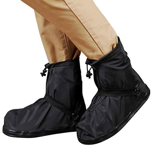 Cubrezapatillas Impermeable Botas de Agua - Unisex Cubiertas de Zapatos Antideslizante Lluvia Botas Reutilizables Calzado Fundas de Lluvia para Zapatos Moto Cicleta