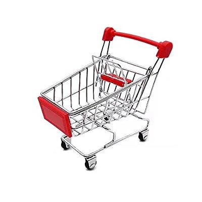 LW Mini Shopping Cart Supermarket Handcart Mini Shopping Cart Mini Supermarket Storage Toy (Red) by LW