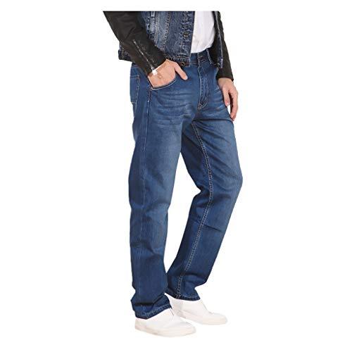 FRAUIT Taglie Forti Uomo Jeans Pantaloni Lavoro Ragazzo Invernali Primaverile Pantaloni Larghi Denim Plus Size Over Size Pantalone Tuta Estivi Elegante Uomini