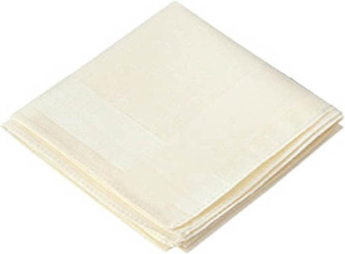HJJACS Solid Pure Color Handkerchief Cotton Unisex Plain Pocket Squares Hankies Neck Hair Scarf Chest Classic Style Towel