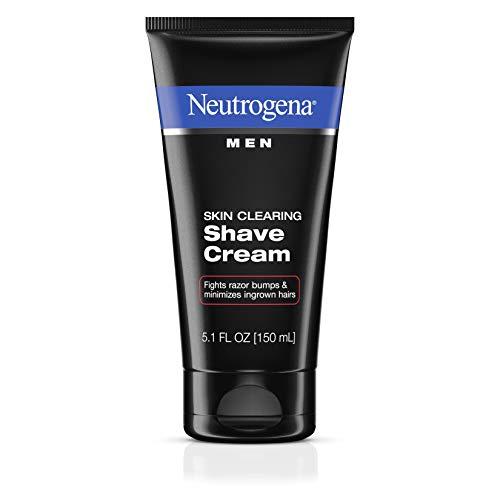 Neutrogena Men Skin Clearing Shave Cream, Oil-Free Shaving Cream to Help Prevent Razor Bumps & Ingrown Hairs, 5.1 fl. oz (2 pack)
