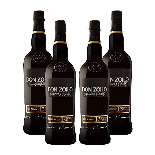 Vino dulce Pedro Ximenez Don Zoilo de 75 cl - D.O. Jerez-Sherry - Bodegas Williams & Humbert (Pack de 4 botellas)
