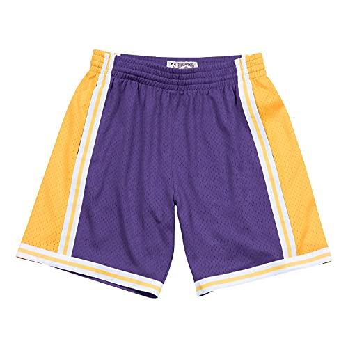 Mitchell & Ness M&N NBA Los Angeles Lakers 1984-85 Swingman - Pantalones cortos (talla L)