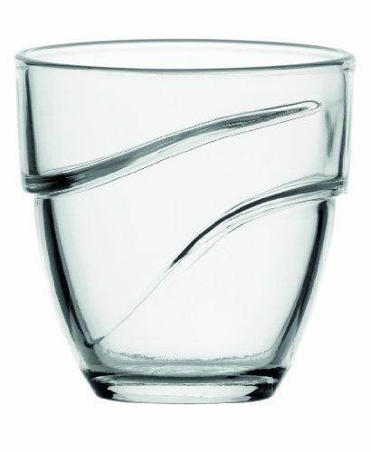 Duralex-Wave - 27 cl-Empilable Verre Transparent 9 1/2 ml Par Duralex Lot de 4