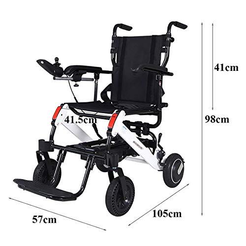 Goldloveyou Opvouwbare rolstoel, automatische mobiliteit, lichtgewicht, met lithium-accu van 6 A voor mindervaliden en oudere mensen