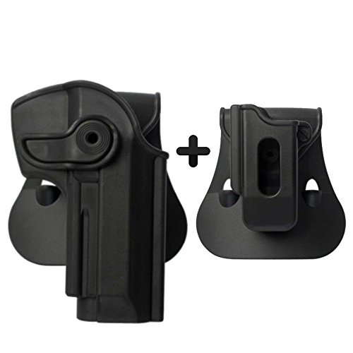 IMI Defense Tactical Combo Z1250 Best Roto Paddle Holster + Mono Revista Pouch Black Polymer for Beretta 92, Llama 82 & Cheetah FS 85, Yavuz-16 Pistol Handgun